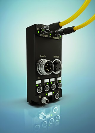 Beckhoff's EtherCAT I/O system - IP 67 power distributor with integrated current and voltage measurement
