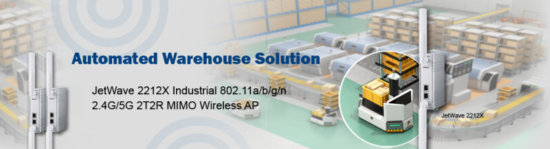 Korenix Wireless AP provides solution for AGV Car in Automated Warehouse
