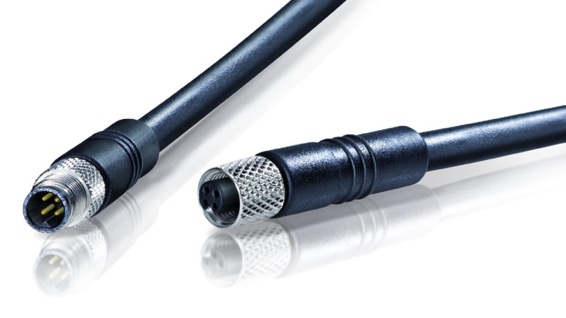 Binder USA Offers M5 Shielded and Overmoulded Cable Connectors for Miniature Sensors