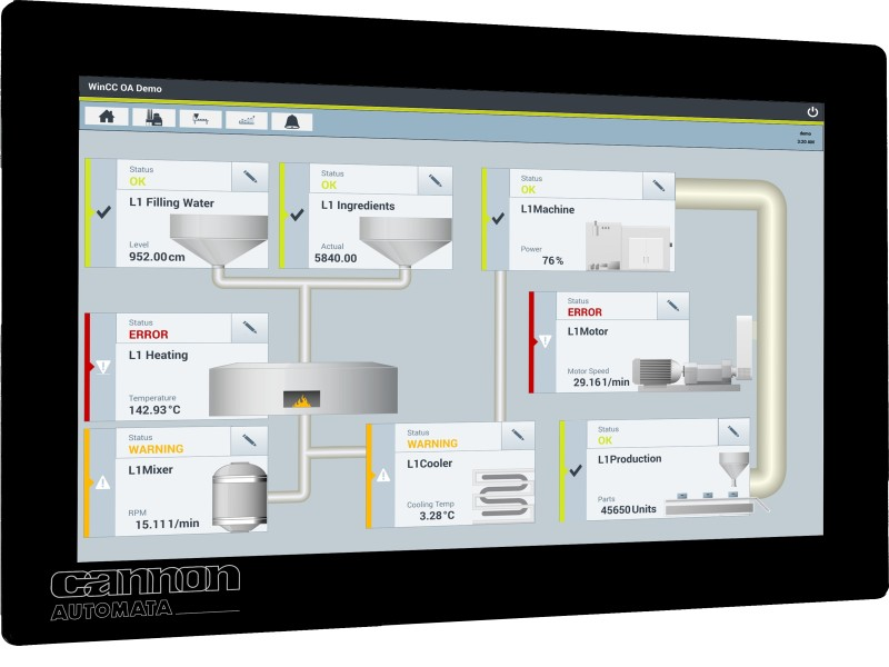 CANNON-Automata introduces new C1eco Web-Panel series with Java support, multi website function and WLAN
