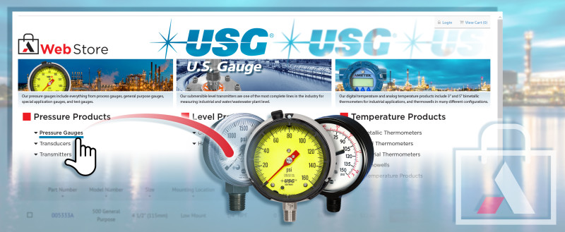 New U.S. GAUGE Webstore - Simple Order Process of Quality Pressure Gauges