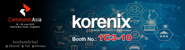 Korenix Launching New JetNet 7000 Series at the CommunicAsia 2018
