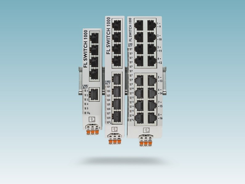 Phoenix Contact's Unmanaged Ethernet Switches reinvented