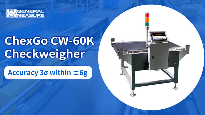 Best Performance: Precision within ±6g  with General Measure Heavy Load Checkweigher ChexGo CW-60K