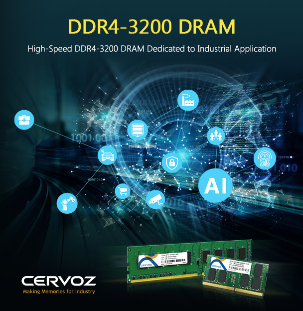 Cervoz launched the DDR4-2933 & DDR4-3200 high-speed DRAM supported by the top-level memory solution