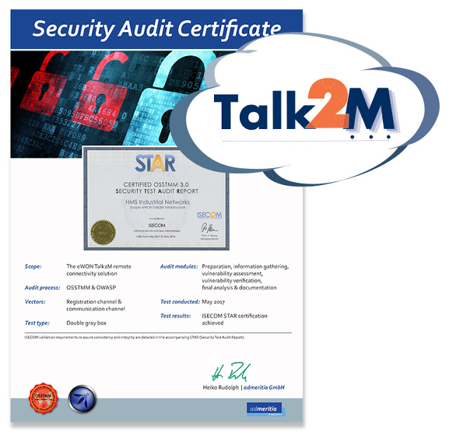 eWON® Talk2M is ISECOM STAR Security Certified