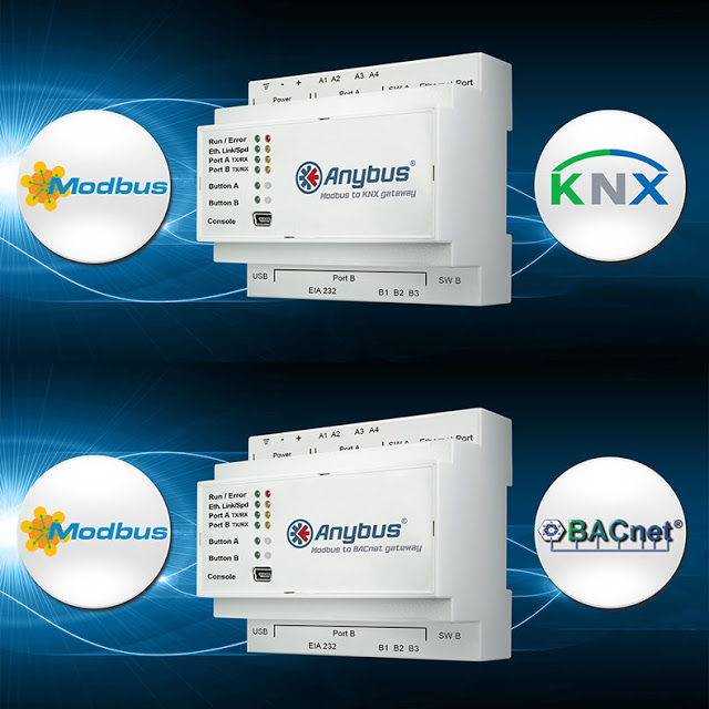 New Anybus Gateways make Modbus devices talk BACnet or KNX