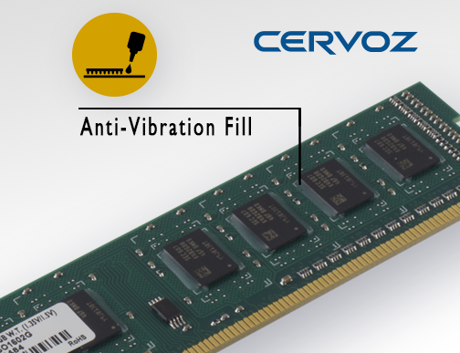 Anti-Vibration Fill is Now Available in Cervoz Industrial RAM Module