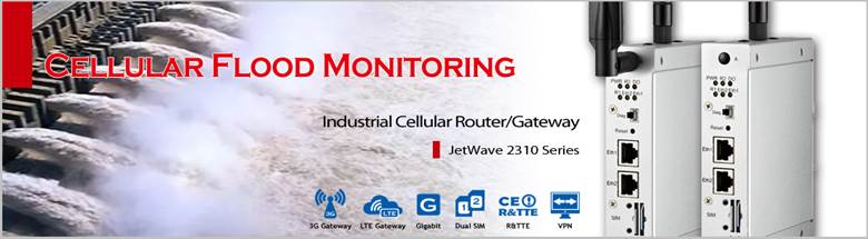 Korenix Wireless Solutions to Flood Monitoring: JetWave 2310 Series