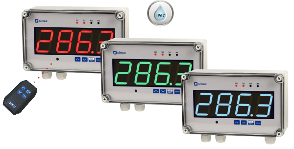 SUR-457 - Simex New Universal Meter with ultra-bright or multi-colour display