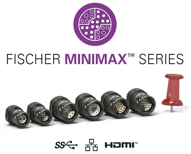 Miniature high-speed data connectivity: Fischer MiniMax™ Series now available with AWG24 Ethernet and IP68 sealing down to 20m/24h