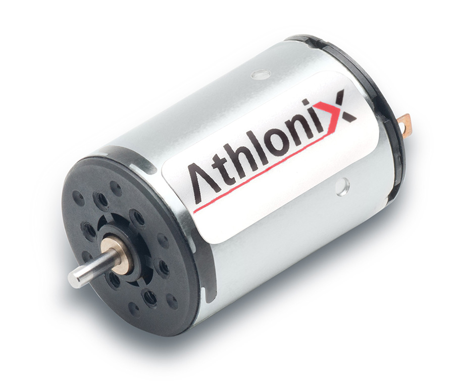 New 16mm Athlonix DC Miniature Motor from Portescap Features Energy Efficient Coreless Design