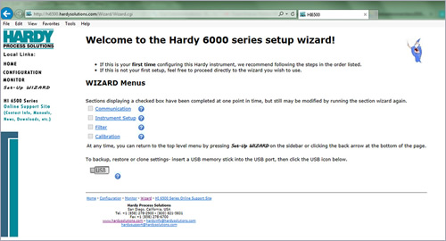 Hardy introduced a Set-Up Wizard with its Weight Processors