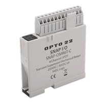 Opto 22 New SNAP mechanical relay output has integrated transient suppression
