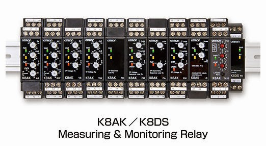 Omron adds Six New Models for the K8 Series Monitoring Relays, complying to global safety standards